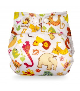 Otulacz One Size 3,5-16 kg WHITE SAFARI, Duduś