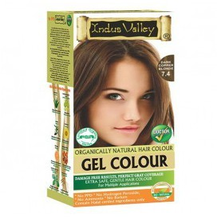 Żelowa farba do włosów, naturalna, 100% pokrycia, BEZ PPD, halal, miedziany blond, CERTYFIKAT Bio-Natural, Indus Valley