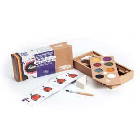 Farby do malowania twarzy Monde des horreurs, Zestaw do makijażu dla dzieci, 8x2,5 g, COSMEBIO, Namaki