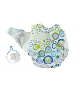 Pieluszka AIO (All-In-One), BUBBLE GUM, newborn, od 3,8 kg do 7 kg, rzep, MOMMY MOUSE