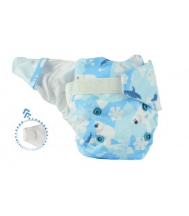 Pieluszka AIO (All-In-One), ARCTOS, newborn, od 3,8 kg do 7 kg, rzep, MOMMY MOUSE
