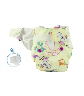 Pieluszka AIO (All-In-One), ZABAWKI, newborn, od 3,8 kg do 7 kg, rzep, MOMMY MOUSE