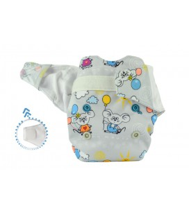Pieluszka AIO (All-In-One), BALONIK, newborn, od 3,8 kg do 7 kg, rzep, MOMMY MOUSE