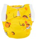 Pieluszka AIO (All-In-One), CHEESE, newborn, od 3,8 kg do 7 kg, rzep, MOMMY MOUSE