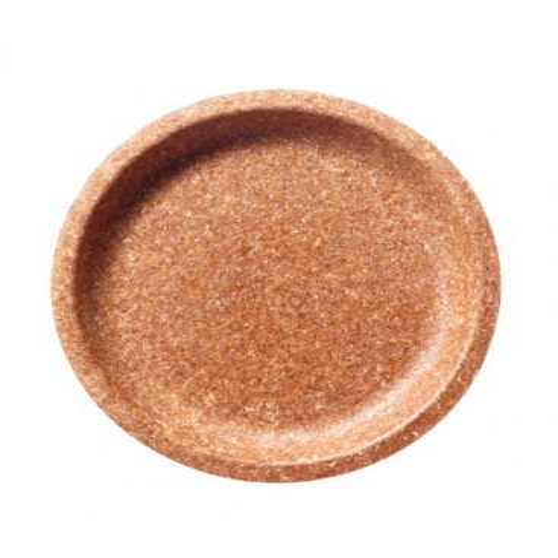 Jednorazowy talerz 20 cm, wykonany w 100% z naturalnych otrąb pszennych, biodegradowalny, BIOTREM